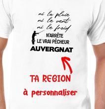 teeshirt personnalisé pêcheur
