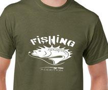 teeshirt dépendance à la pêche