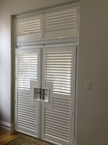 Basswood Shutters French door style