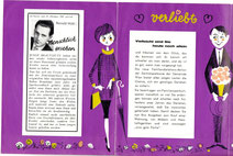 """Sparkassenwerbung: Prospekt """"Familiendarlehen"""". Grafik von Heinz Traimer 1962."""
