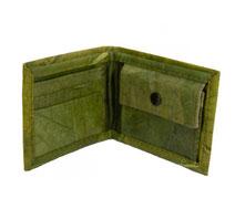 Geldbörse aus Blattleder