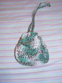 Bolsa de ganchillo artesanal