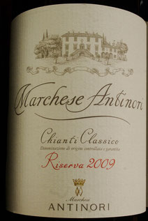marchese antinori riserva 2009