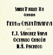 Toros de Reta pour Sanchez Vara Octavio Chacon et Miguel Angel Pacheco
