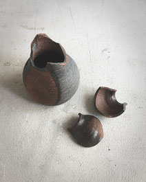 eine zerbrochene Vase