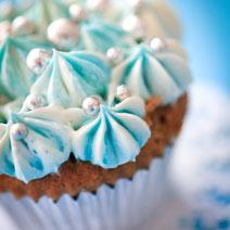 Verzierung Cupcakes blau