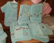 Cadeaux de naissance, sorties de bains made in France lacanau