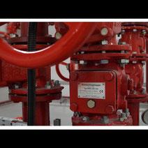 zawór kontrolno-alarmowy ZKA instalacje gaśnicze serwis