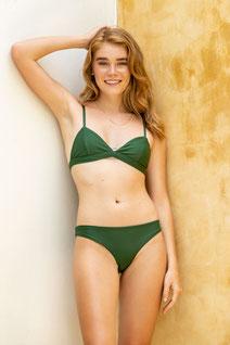 Sustainable bikni bottom - green