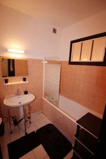 La salle de bain du Gîte De Giron à Giron dans l'Ain