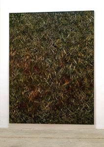 Wegmarken XI 2010 Kunstharz, Acrylfarbe, Ölfarbe auf Leinwand 210 x 160 cm