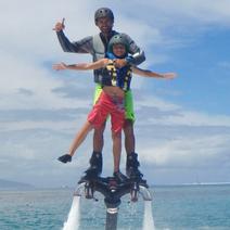 Bapteme flyboard enfant Jet surf Moorea