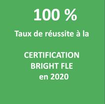 100% de réussite au passage de la certification BRIGHT FLE en 2020 pour les stagiaires SAVOIRS PLUS