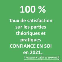 100% satisfaction des stagiaires SAVOIRS PLUS formation confiance en soi