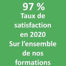 97% taux de satisfaction 2020 savoirs plus