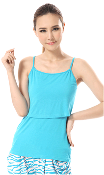 nursing tank top color sky blue