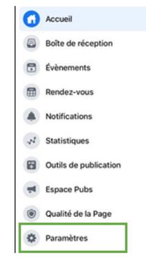 facebook paramètres pages desktop