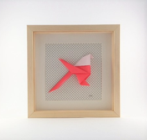 cadrez mural origami decoration chambre enfant idée naissance