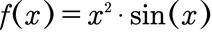 Beispiel für eine Funktion, welche selbst aus dem Produkt von zwei Funktionen besteht