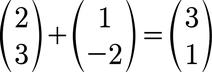 Beispiel für eine Vektoraddition von 2D Vektoren