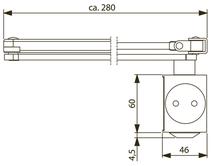 Türschliesser DORMA TS83 DC/SV, mit Gestänge