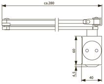 Türschliesser DORMA TS73V, mit Gestänge