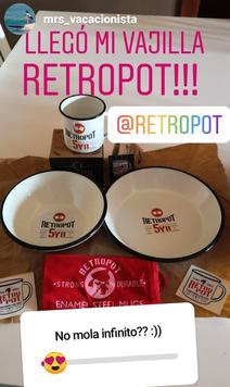 ganadora sorteo RETROPOT vajilla quinto aniversario