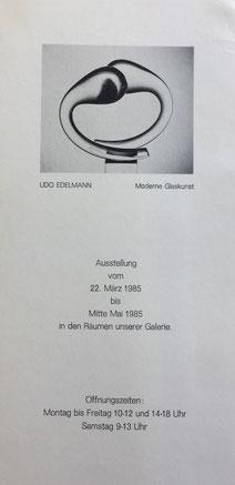 Einladung zur Ausstellung Udo Edelmann 1985