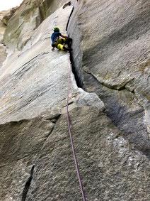 clean climbing klettern in Cadarese