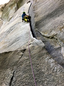 clean climbing klettern in Cadarese