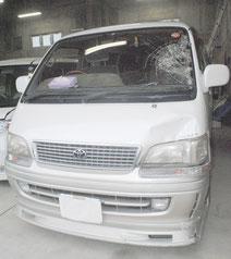 桑江容疑者が運転していた車(2月28日午後)