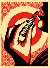 Shepard fairey Kiss me Deadly