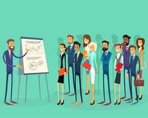 Un tableau management visuel en entreprise structure les animations. Exemples.