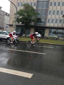 """Die """"Schädle-Brothers"""" auf dem Bike"""