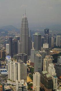 Ausblick auf Petronas