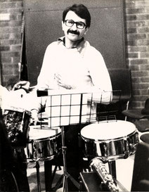 Drumming at Middlesex Polytechnic c. 1982