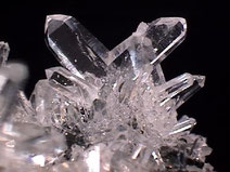 Natural quartz crystals