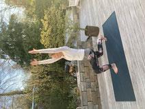 Pilates Übung Femur Arcs
