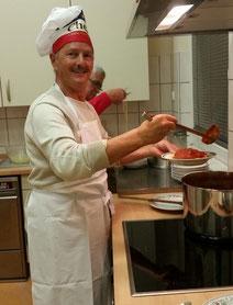Giuseppe kann singen und kochen