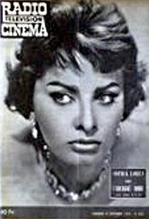Sophia Loren en couverture de RadioCinéma en 1959