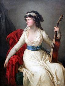 Johanna Margarete Christina von Brühl. Gemälde von A. Graff, 1796.