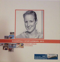 Barbara Köhler bei der RHEINPFALZ Sportlerwahl