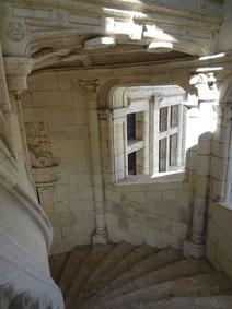 Escalier renaissance. Blois. Source Laure Trannoy. 2016
