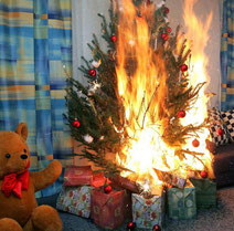 brennender Christbaum