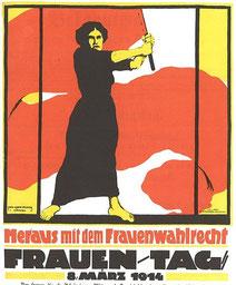 Plakat für den Frauentag am 8. März 1914 (Wikimedia)