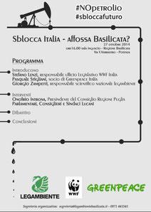Petrolio, basilicata, potenza, legambiente, montalbano, sblocca italia