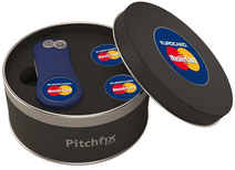 Pitchfix Metalldose mit Doming, Pitchfix Metalldose mit Ballmarker, Pitchfix Metalldose bedrucken, Pitchfix Dose, Pitchfix bedrucken, pitchfix mit Logo, Pitchfix Startgeschenk,