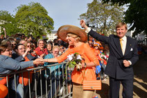 "Репортаж ""АиФ.Европа"": Король Нидерландов Виллем-Александер и королева Максима, визит в Висбаден в июне 2013 г.Foto © E. Blatt/Staatskanzlei Hessen"