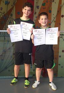 Konrad Wiehl und Rinor Rexhepi sind aktuell die beiden besten Spieler ihres Jahrgangs im Bezirk Alb.