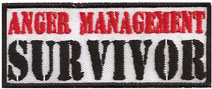 Anger management survivor, Heavy Metal Aufnäher Patch